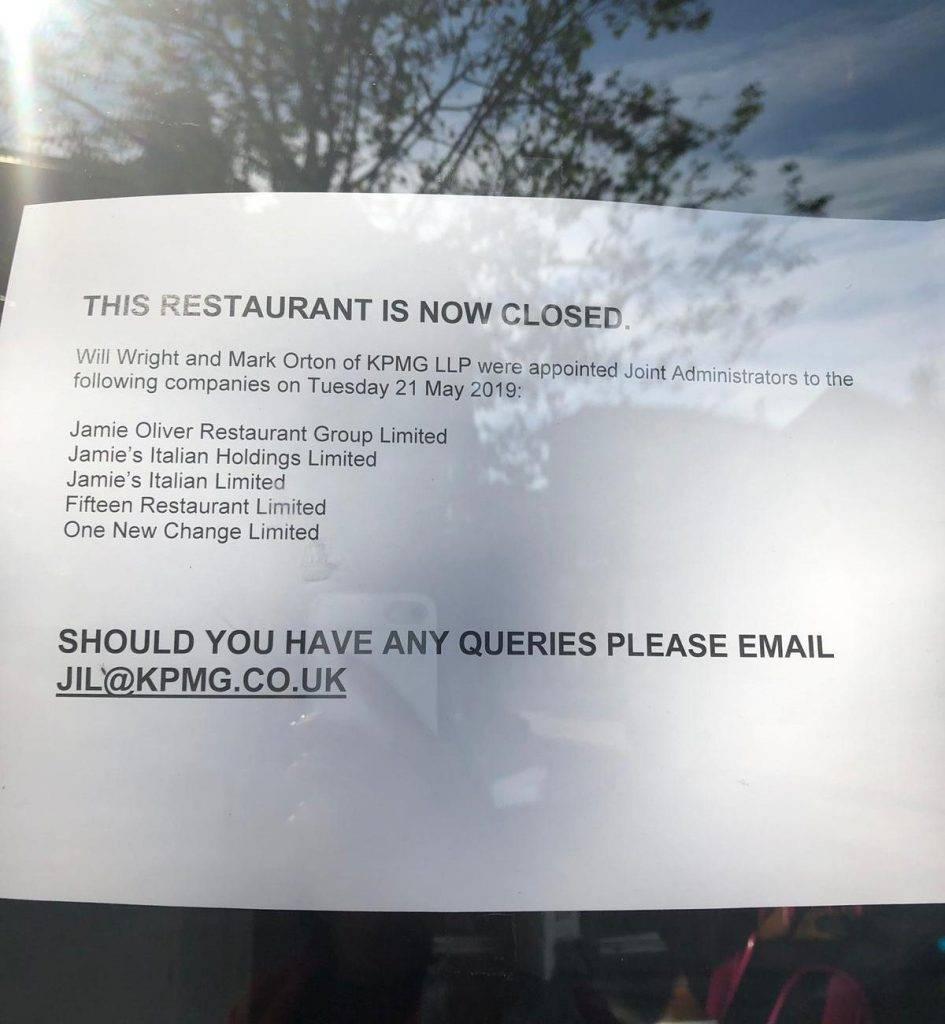 Jamie Oliver anuncia fechamento da sua rede de restaurantes britânicos