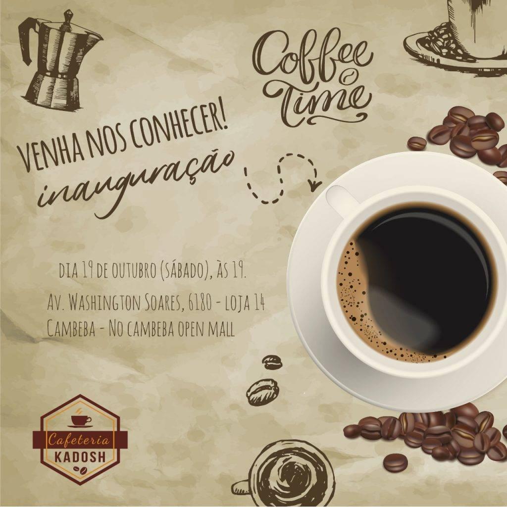 Você gosta de café? Então não perca a oportunidade de participar da inauguração de um!