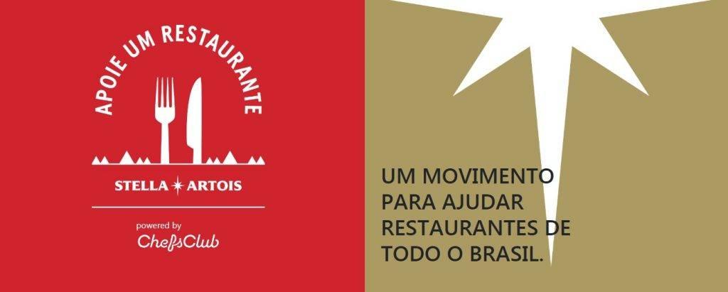 Marca da campanha da Stella Artois para ajudar restaurantes durante a pandemia do coronavírus
