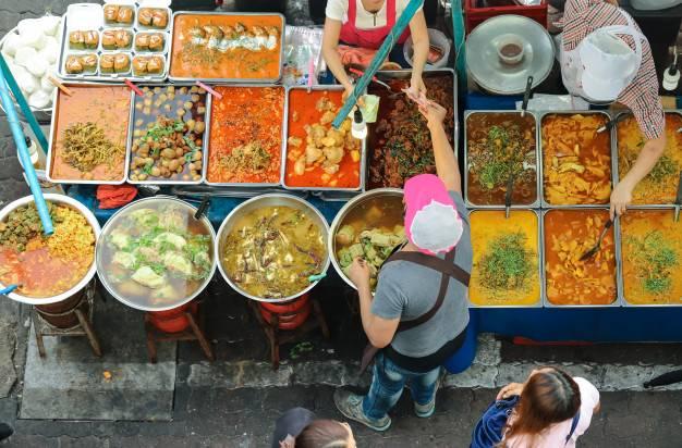 feira de gastronomia tailandesa