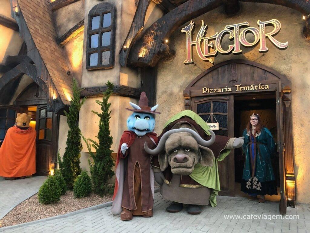Uma pizza em Hogwarts: Hector vira ponto turístico