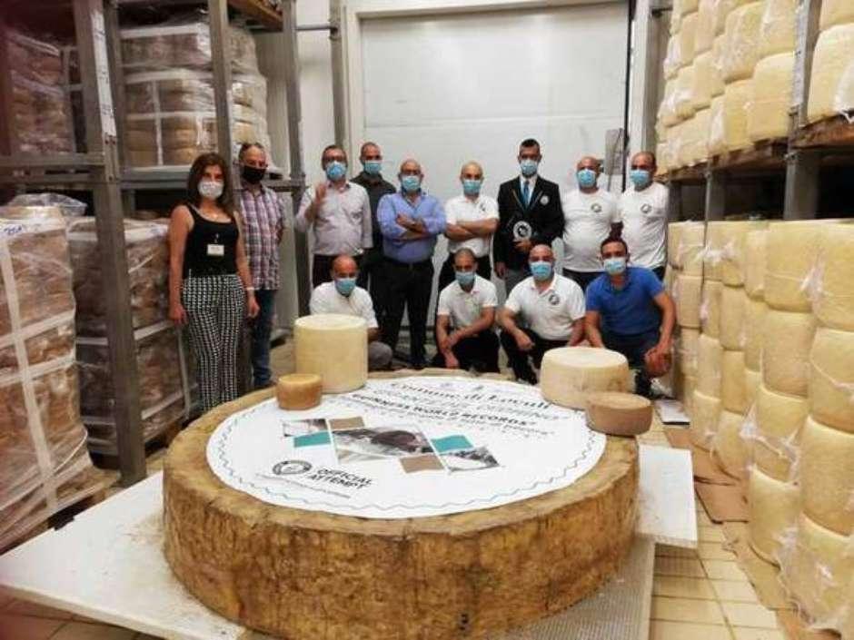 Cidade italiana cria o maior queijo pecorino no mundo