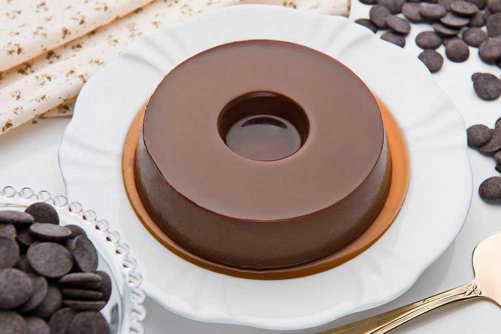 Receita de Pudim de Chocolate Belga