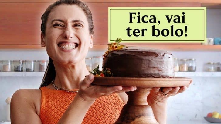 Bolo de Chocolate para Aniversário da Paola Carosella