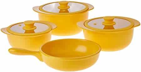 panela de ceramica amarela para comprar