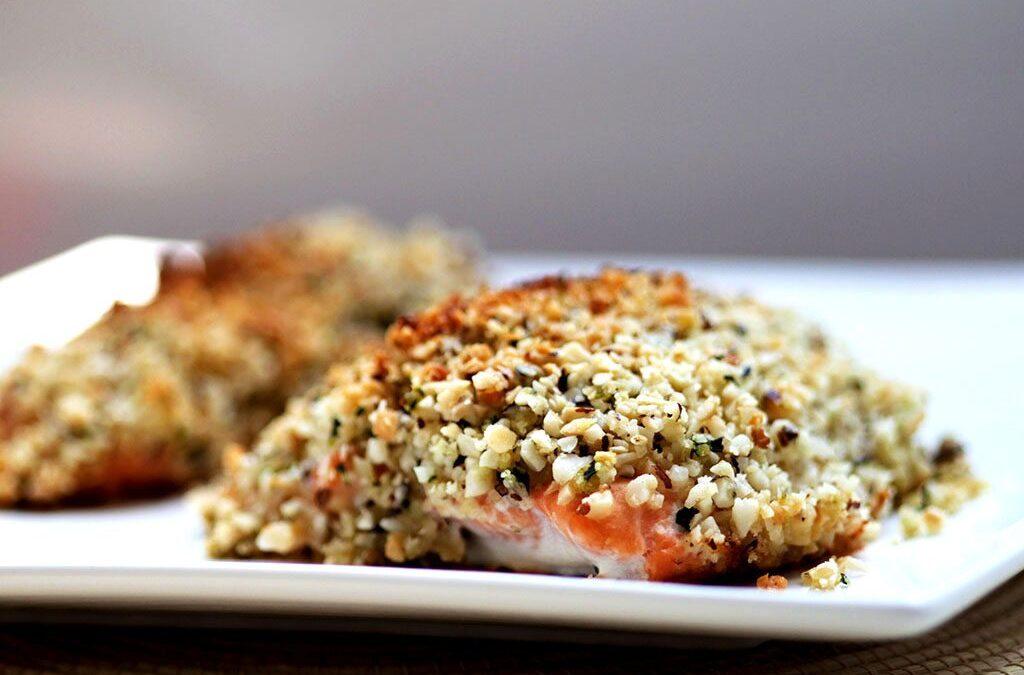 Receita de salmão com castanhas